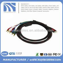HDMI a 5 RCA RGB Audio Video Cable de componente AV