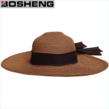 Women′s Wide Brim Caps Summer Beach Sun Straw Hat
