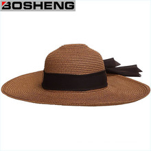 Women′s Wide Brim Caps Summer Beach Sun Straw Hat