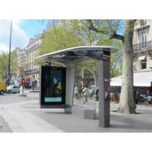 Kiosco moderno Bus Simple con LED de gabinete