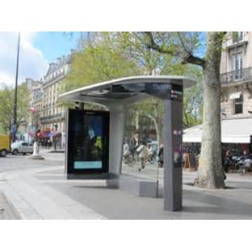 Modern Simple Bus Kiosk with LED Cabinet