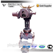 cast steel rising stem valve flange end globe valve for pipeline