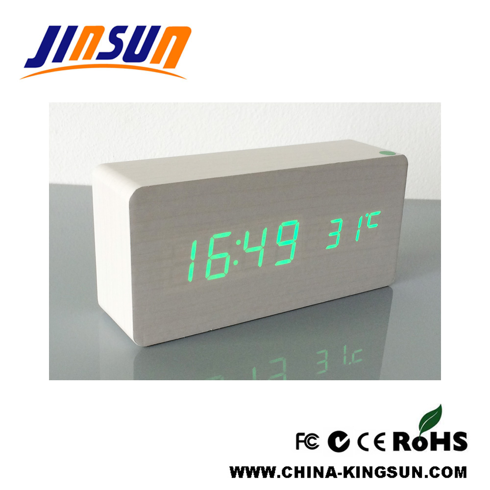 Simple Design White Color Led Digital Alarm Clock