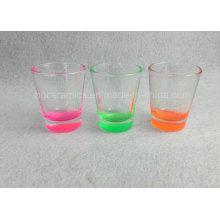 Farbe Bottom Shot Glass, Sprühfarbe Bottom Shot Glass