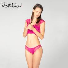 Sexy transparente rendas breve mulheres calcinha cueca