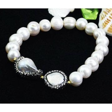 Joyería al por mayor de la pulsera de la perla de la manera