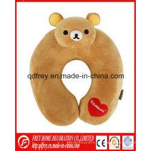 Cojín suave del cuello del oso de peluche de la venta caliente para el regalo del bebé