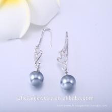 Boucle d'oreille en argent 925 sertie de bijoux cz de luxe