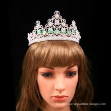 Kundengebundene Tiara Rhinestone-Blumen-Entwurfs-Krone für Hochzeit