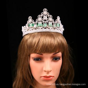 Corona personalizada del diseño de la flor del Rhinestone de la tiara para la boda