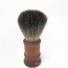 Wooden Handle shaving brush Nylon filaments beard brush man facial brush