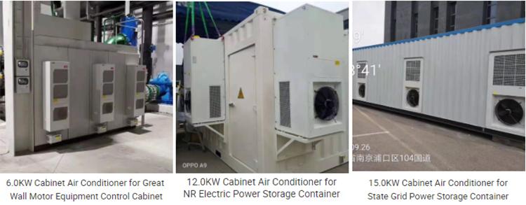 Enclosure air conditioner in use