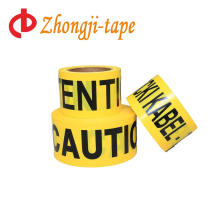 bright yellow barricade caution tape