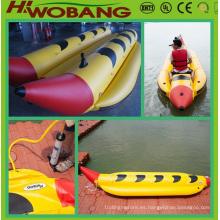 Barco de plátano inflable PVC agua deportes de estilo familiar