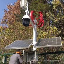 Système de surveillance hybride éolien et solaire