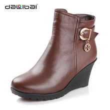 fashion wholesale women wedge ladies snow winter boots