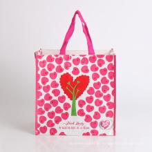 Bolso tejido plegable plegable del regalo de boda del bolso de plástico de las compras del bolso de la promoción