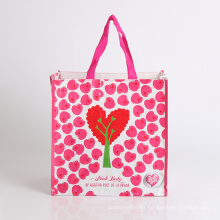 promotion foldable woven bag shopping plastic bag wedding gift bag