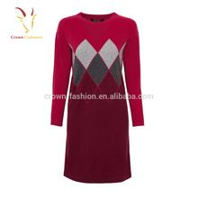 2017 Winter New Arrival Women Cashmere Dress Imported from China