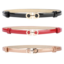 Grace Karin Women Ladies Girls Adjustable Thin Skinny Polyurethane Leather Waist Belt CL010483