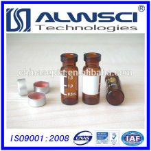 1.5ml amber crimp hplc vial with write on spot for chromatography analysis