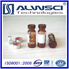 1.8ml amber crimp write hplc vial from OEM manufacturer for HPLC/GC analysis