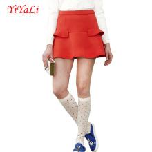 Verano vestido corto falda mujeres falda de volantes