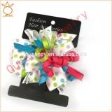 CF0417 Popular hot sale large single girl hair dressing black chiffon flower hair clip