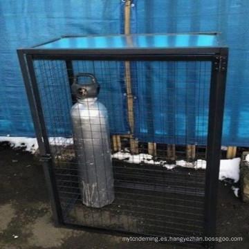 botella de gas completamente soldado botella cilindro de almacenamiento galvanizado jaula de malla de acero