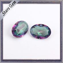 Oval 4X6mm Clear Rainbow Color Crystal Glass Gemstone