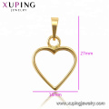 34406 xuping  fashion design Stainless Steel jewelry 14K gold color heart shape  pendant