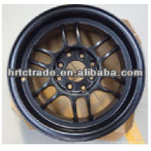 black car alloy wheel