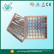 calcomanías de holograma de certificado, pegatinas de holograma transparentes