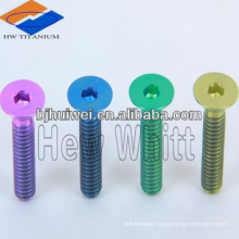 titanium countersunk head bolt for bicycle