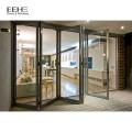 Designs modernes de portes pliantes en aluminium blanc
