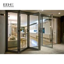 Powder Coated White Aluminium Folding Sliding Doors