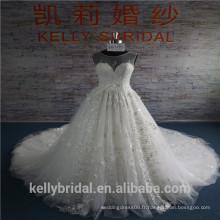 Vente en gros de robe de mariée en dentelle florale 2017