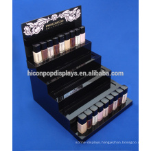 Cosmetic Store Advertising Personalised Logo Counter Top Acrylic 5-Step Nail Polish Display Stand