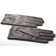Men′s Fashion Zipper Leather Motorcycle Driving Gloves (YKY5184-2)