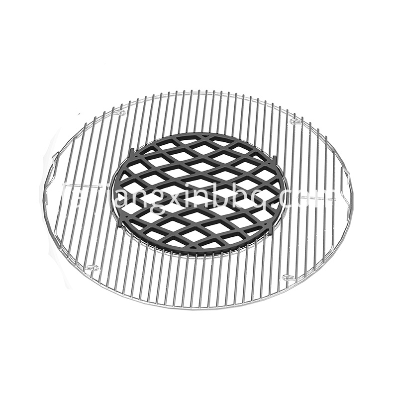 Gourmet Bbq System Sear Grate Exposed View