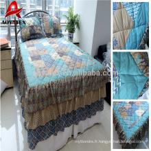 100% polyester disperse couette patchwork imprimé et patchwork patchwork pas cher match avec oreiller