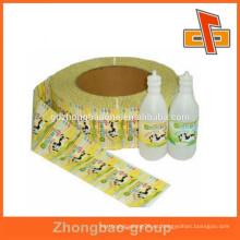 Etiquetado de productos Manga retráctil de PVC con diseño personalizado
