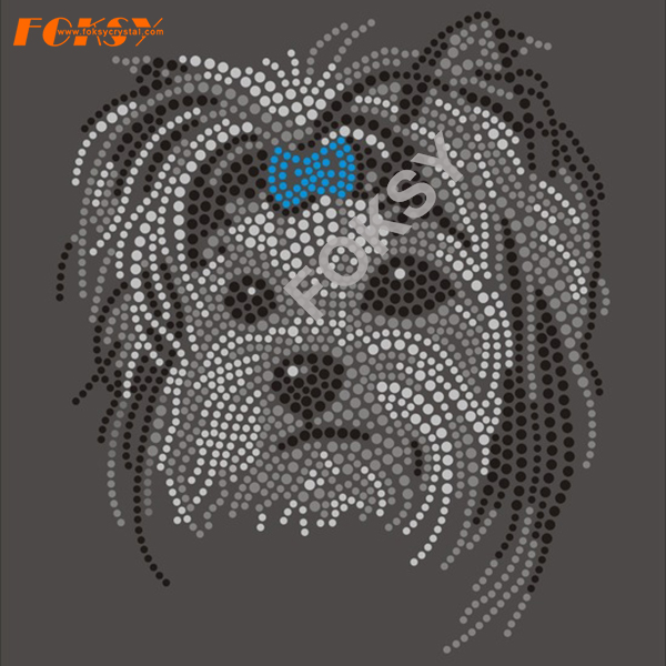 Bull Terrier Crystal Dog hotfix strass motief