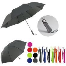 2 Folding Auto Open Pure Color Golf Umbrella