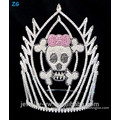 Colored Crystal Skull Halloween Crown, Scary Skull Crown For Sale
