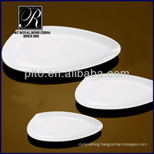 2014 new product hotel&restaurant plain white nice shape ceramic plates PT1727