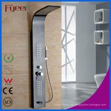 Panel de ducha de pared de acero inoxidable color negro 304