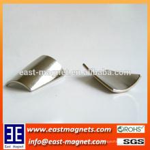 Slopping Tile of segment shape Neodymium Permanent Magnet for Motor Assemblies/rake angle ndfeb magnet for sale