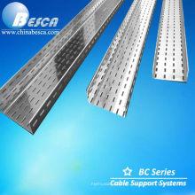 Bandeja de cable HDG perforada / recubierta de epoxi Recubrimiento de epoxi galvanizado / poliéster en polvo (UL.CE.c-UL.NEMA.ISO.IEC)