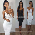 Europe and the United States sexy perspective lace stitching sling Slim package hip dress women clothing dress